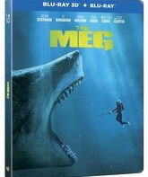 Мег: Монстр глубины (3D+2D Steelbook) [Blu-ray 3D] / The Meg (3D+2D Steelbook)
