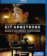Blu-ray Кит Армстронг играет Баха / Kit Armstrong Performs Bach's Goldberg Variations and Its Predecessors (2016)